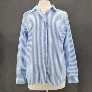 Madewell Blue White Striped Button Shirt Large